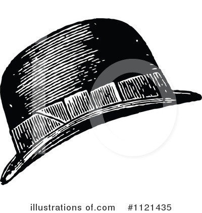 Royalty-Free (RF) Hat Clipart Illustration by Prawny Vintage - Stock Sample #1121435