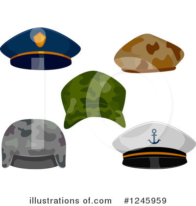 Royalty-Free (RF) Hat Clipart Illustration by BNP Design Studio - Stock Sample #1245959
