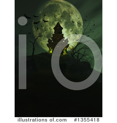 Haunted Castle Clipart #1355418 by KJ Pargeter