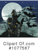 Royalty-Free (RF) Haunted House Clipart Illustration #1077587