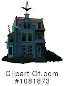 Royalty-Free (RF) Haunted House Clipart Illustration #1081873