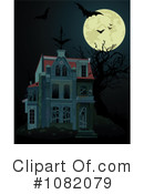 Royalty-Free (RF) Haunted House Clipart Illustration #1082079