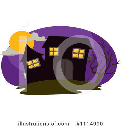 Haunted House Clipart #1114990 by Graphics RF
