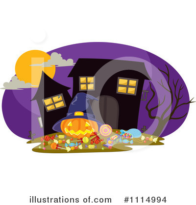 Royalty-Free (RF) Haunted House Clipart Illustration by iimages - Stock Sample #1114994