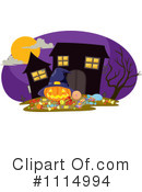 Royalty-Free (RF) Haunted House Clipart Illustration #1114994