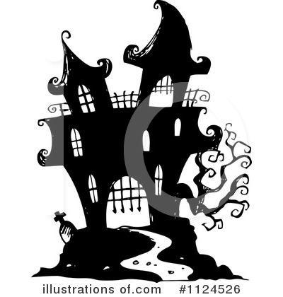 Haunted House Clipart #1124526 by visekart