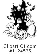 Royalty-Free (RF) Haunted House Clipart Illustration #1124535