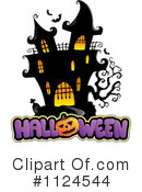 Royalty-Free (RF) Haunted House Clipart Illustration #1124544