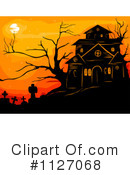 Royalty-Free (RF) Haunted House Clipart Illustration #1127068