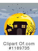 Royalty-Free (RF) Haunted House Clipart Illustration #1189735