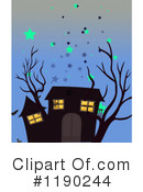 Royalty-Free (RF) Haunted House Clipart Illustration #1190244