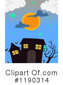 Royalty-Free (RF) Haunted House Clipart Illustration #1190314
