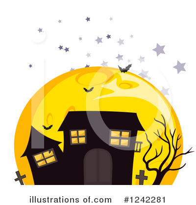Haunted House Clipart #1242281 by Graphics RF