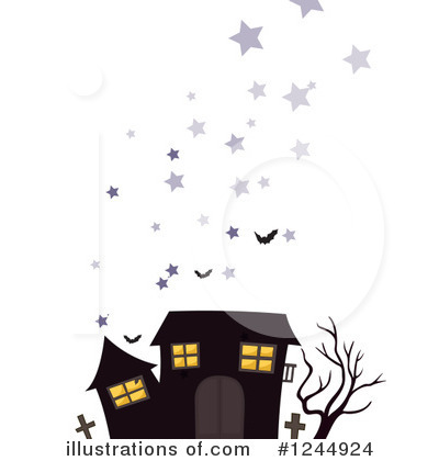 Royalty-Free (RF) Haunted House Clipart Illustration by Graphics RF - Stock Sample #1244924