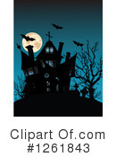 Royalty-Free (RF) Haunted House Clipart Illustration #1261843