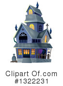 Haunted House Clipart #1322231 by visekart