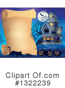 Haunted House Clipart #1322239 by visekart