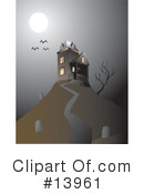 Royalty-Free (RF) haunted house Clipart Illustration #13961
