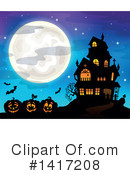 Haunted House Clipart #1417208 by visekart