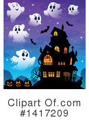 Haunted House Clipart #1417209 by visekart