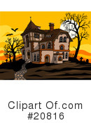 Royalty-Free (RF) Haunted House Clipart Illustration #20816