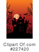 Royalty-Free (RF) Haunted House Clipart Illustration #227420