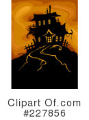 Royalty-Free (RF) Haunted House Clipart Illustration #227856