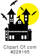 Royalty-Free (RF) Haunted House Clipart Illustration #228165