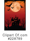 Royalty-Free (RF) Haunted House Clipart Illustration #228789