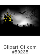 Royalty-Free (RF) Haunted House Clipart Illustration #59235