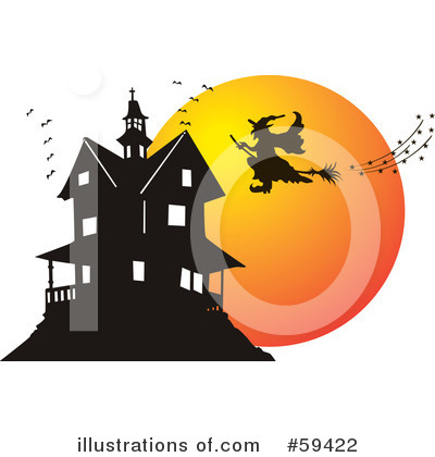 haunted house images free. Royalty-Free (RF) Haunted House Clipart Illustration by pauloribau - Stock