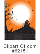 Royalty-Free (RF) Haunted House Clipart Illustration #62151