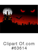 Royalty-Free (RF) Haunted House Clipart Illustration #63614