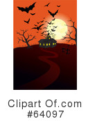 Royalty-Free (RF) Haunted House Clipart Illustration #64097