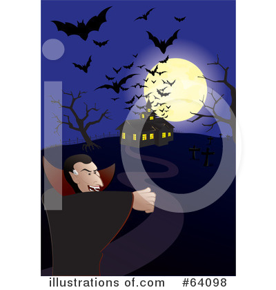 Royalty-Free (RF) Haunted House Clipart Illustration by Paulo Resende - Stock Sample #64098