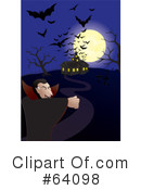 Royalty-Free (RF) Haunted House Clipart Illustration #64098