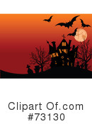 Royalty-Free (RF) Haunted House Clipart Illustration #73130