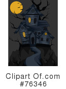 Royalty-Free (RF) Haunted House Clipart Illustration #76346