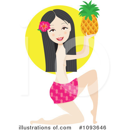 Pineapple Clipart #1093646 by Maria Bell