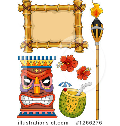 Tiki Torch Clipart #1266276 by BNP Design Studio