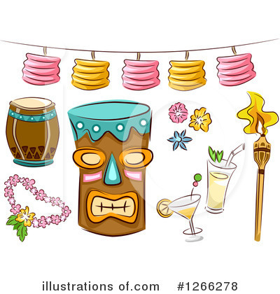 Tiki Torch Clipart #1266278 by BNP Design Studio