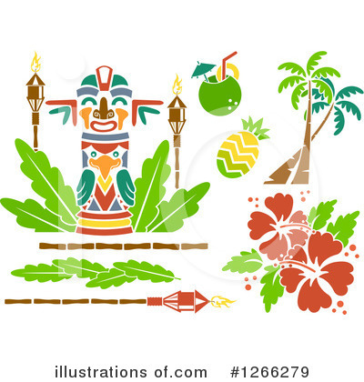 Tiki Torch Clipart #1266279 by BNP Design Studio