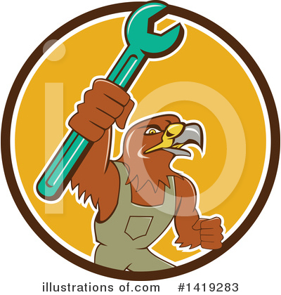Hawk Clipart #1419283 by patrimonio