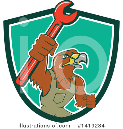Hawk Clipart #1419284 by patrimonio