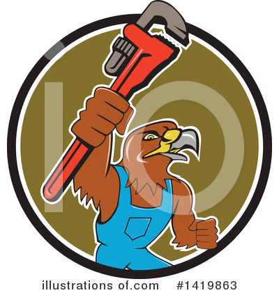 Hawk Clipart #1419863 by patrimonio