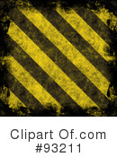 Royalty-Free (RF) Hazard Stripes Clipart Illustration #93211