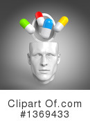 Royalty-Free (RF) Head Clipart Illustration #1369433