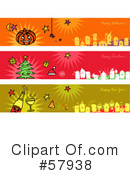 Royalty-Free (RF) Header Clipart Illustration #57938