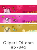 Royalty-Free (RF) header Clipart Illustration #57945