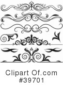 Royalty-Free (RF) Headers Clipart Illustration #39701
